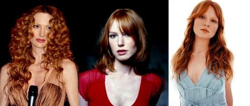 Marta Cecchetto (modella, ma soprattutto fidanzata di Luca Toni), Alicia Witt (attrice) e Lauren Ambrose (altra attrice - Six feet under)